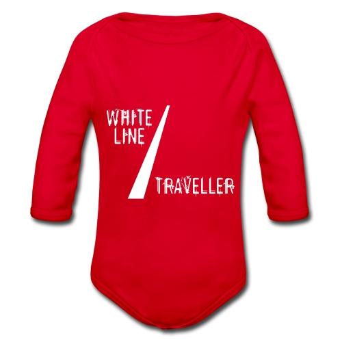 white line traveller - Baby bio-rompertje met lange mouwen