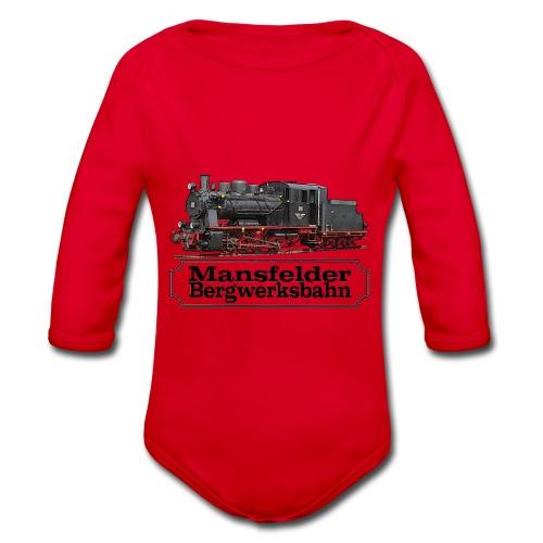 mansfelder bergwerksbahn dampflok 1 - Baby Bio-Langarm-Body