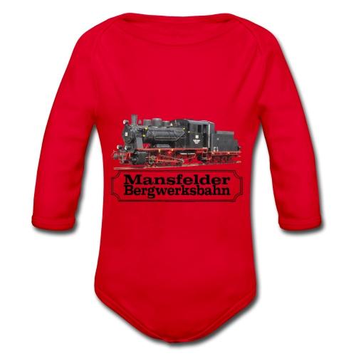 mansfelder bergwerksbahn dampflok 3 - Baby Bio-Langarm-Body