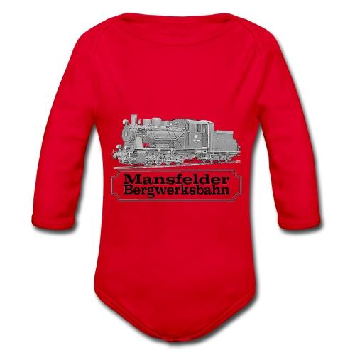 mansfelder bergwerksbahn dampflok 2 - Baby Bio-Langarm-Body