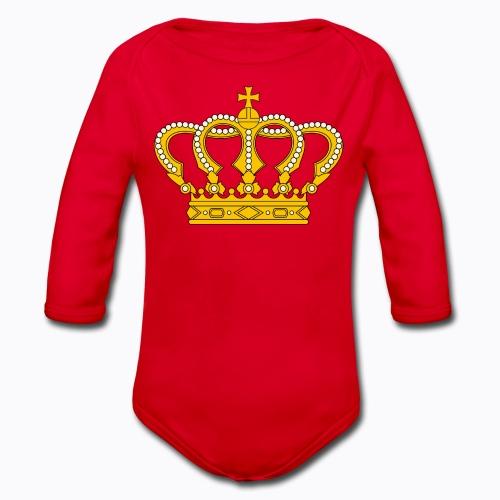 Golden crown - Organic Longsleeve Baby Bodysuit