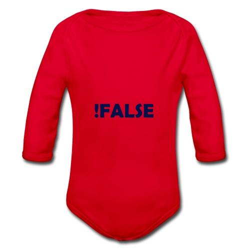 !False - Baby Bio-Langarm-Body