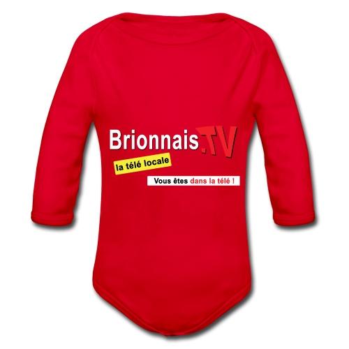 BTV logo shirt dos - Body Bébé bio manches longues