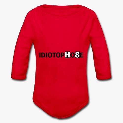 IDIOTOPHOBE1 - Organic Longsleeve Baby Bodysuit