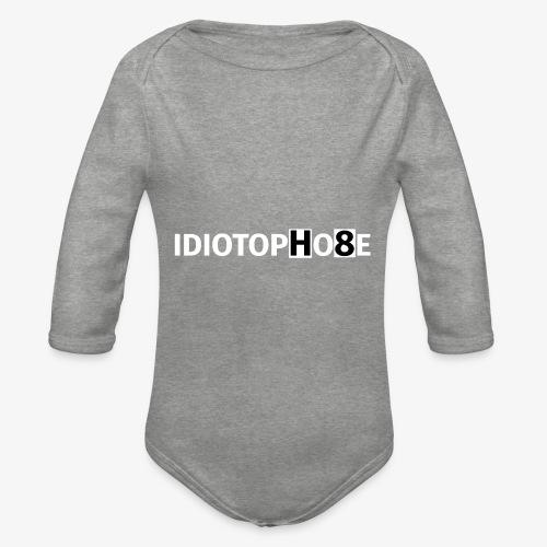 IDIOTOPHOBE2 - Organic Longsleeve Baby Bodysuit