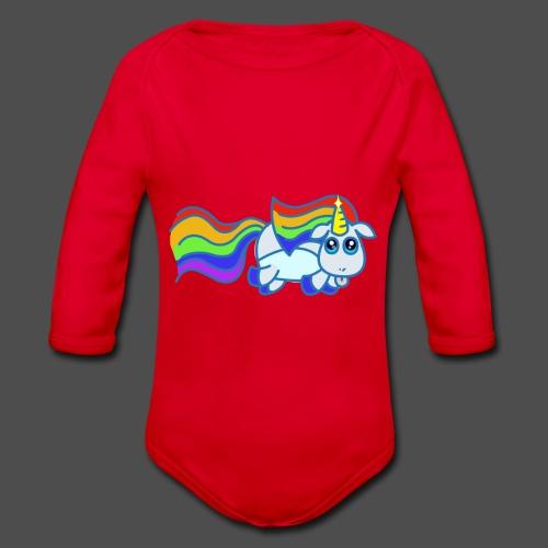 Nyan unicorn spread - Body ecologico per neonato a manica lunga