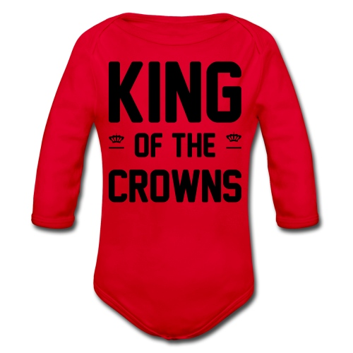 King of the crowns - Baby bio-rompertje met lange mouwen