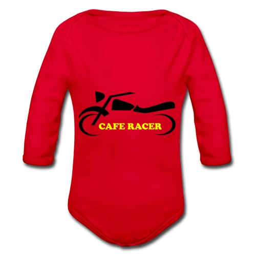 Cafe Racer Motorrad Biker Moped Mofa Geschenk - Baby Bio-Langarm-Body