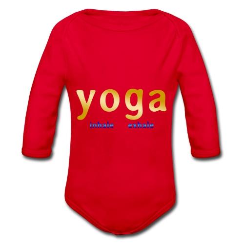 yoga inhale exhale - Baby Bio-Langarm-Body