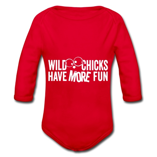 Wild Chicks Shirt einfarbig - Baby Bio-Langarm-Body