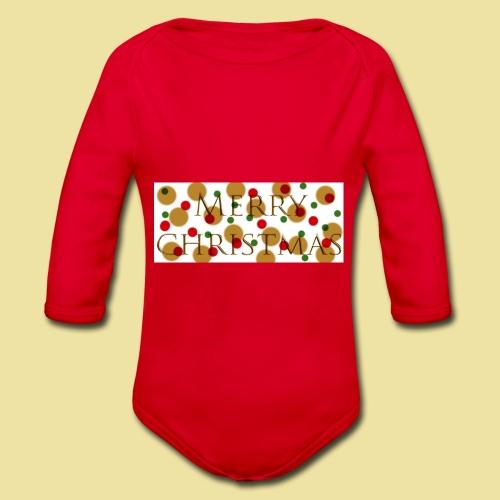 merry-christmas Logo Geschenk - Baby Bio-Langarm-Body