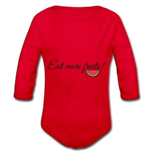 Eat more fruits! melon - Organic Longsleeve Baby Bodysuit