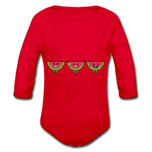The three melons - Organic Longsleeve Baby Bodysuit