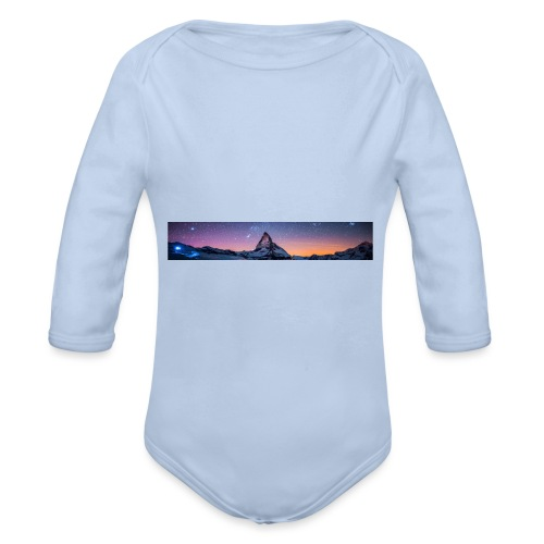 Mountain sky - Baby Bio-Langarm-Body