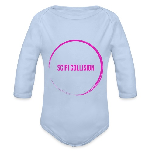 Pink Logo - Organic Longsleeve Baby Bodysuit