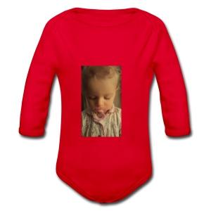 Red Ball4561 baby - Organic Longsleeve Baby Bodysuit
