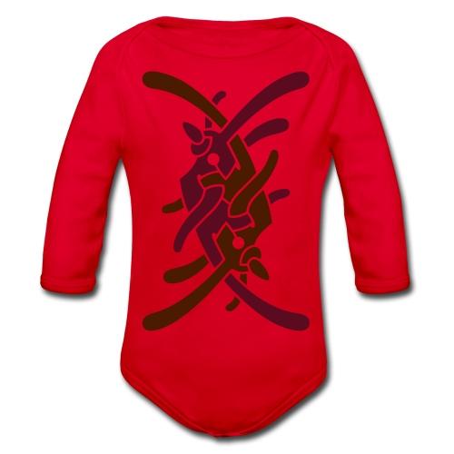 Stort logo på ryg - Langærmet babybody, økologisk bomuld