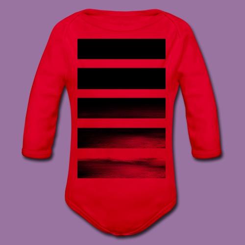 Stripes Horizontal Black - Body ecologico per neonato a manica lunga