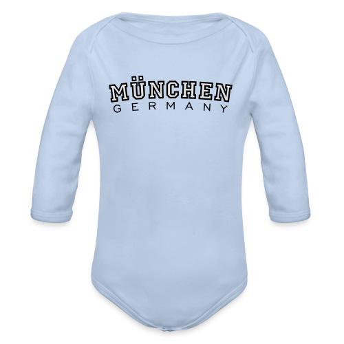 München Germany (Schwarz/Weiß) Deutschland - Baby Bio-Langarm-Body