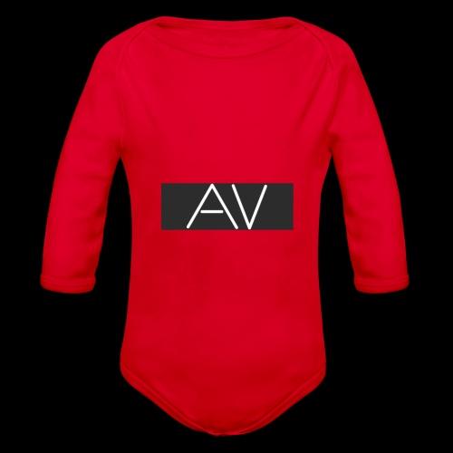 AV White - Organic Longsleeve Baby Bodysuit