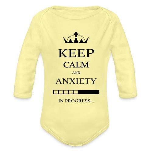 keep_calm - Body ecologico per neonato a manica lunga