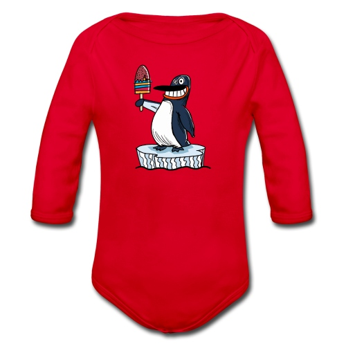 Funny Penguin Icecream Kids Smile: Penguin Ice - Body ecologico per neonato a manica lunga