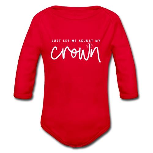 Crown white - Organic Longsleeve Baby Bodysuit