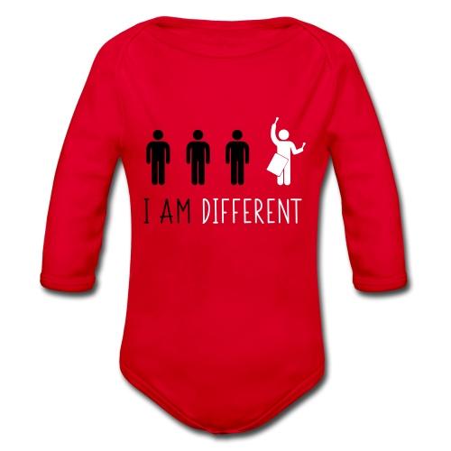 i am different tamb - Body ecologico per neonato a manica lunga