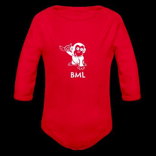 BestMonkeyLearning Logo - Organic Longsleeve Baby Bodysuit
