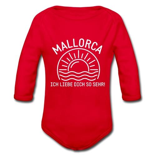 Mallorca Liebe - Das Design für echte Mallorcafans - Baby Bio-Langarm-Body
