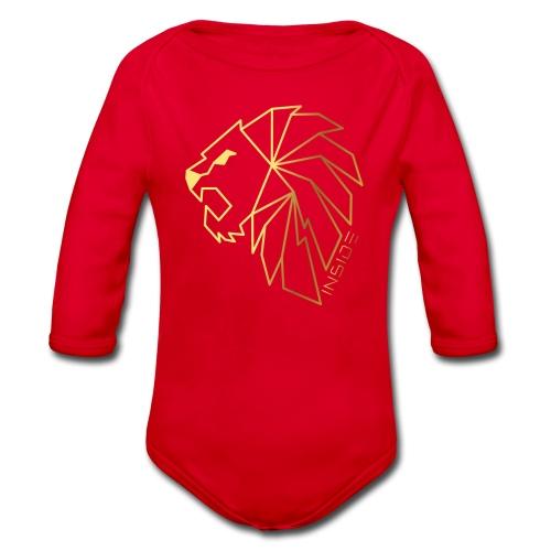 Löwe, Lion Inside - Baby Bio-Langarm-Body