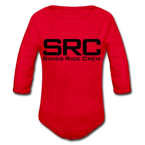 SRC T-Shirt Neongrün - Baby Bio-Langarm-Body
