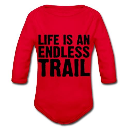 Life is an endless trail - Baby Bio-Langarm-Body