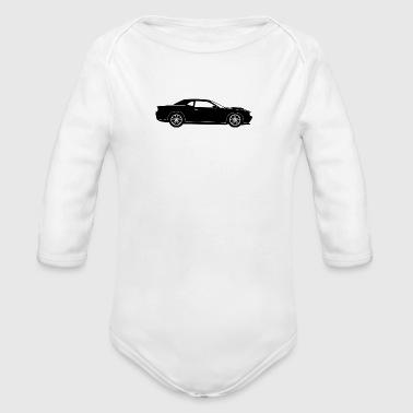 Samochód sportowy - Ekologiczne body niemowlęce z długim rękawem