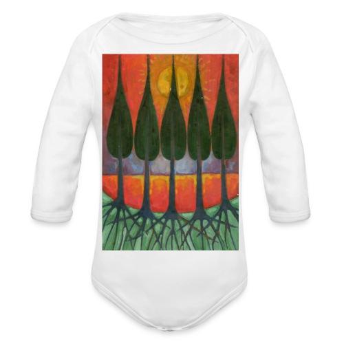 Czerwony Zachód Słońca - Ekologiczne body niemowlęce z długim rękawem