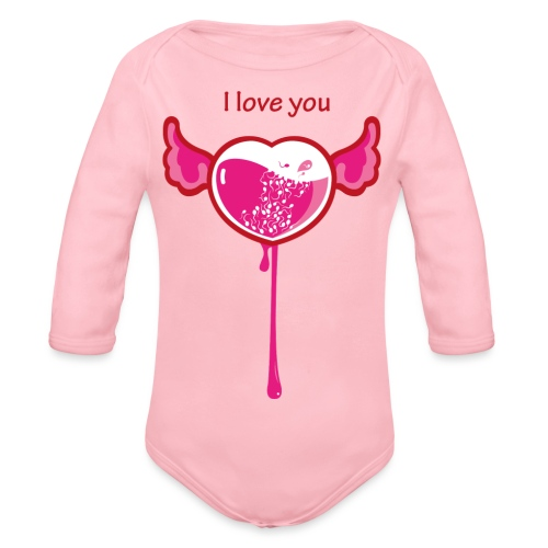 I love you - Body ecologico per neonato a manica lunga