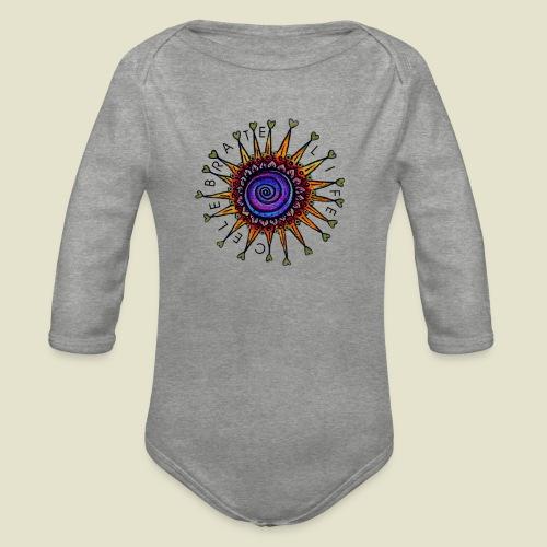 Celebrate Life Mandala - Baby Bio-Langarm-Body