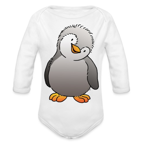 Pinguin Felix - Baby Bio-Langarm-Body