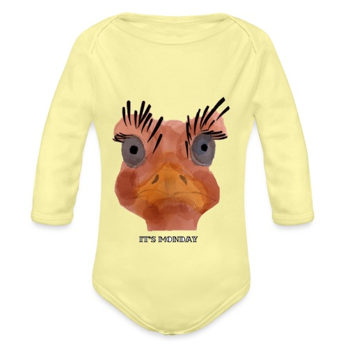 Srauss, again Monday, English writing - Organic Longsleeve Baby Bodysuit