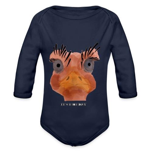 Srauss, again Monday, English writing - Organic Longsleeve Baby Bodysuit