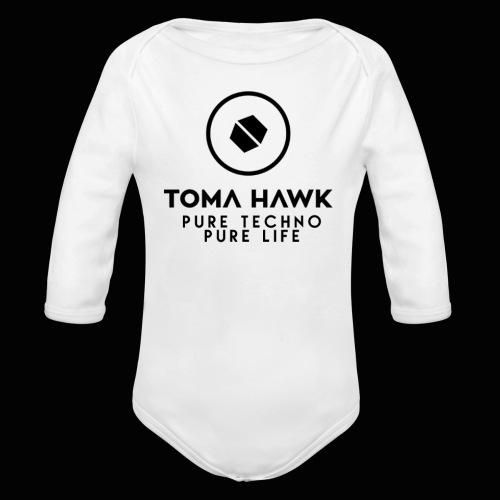 Toma Hawk - Pure Techno - Pure Life Black - Baby Bio-Langarm-Body