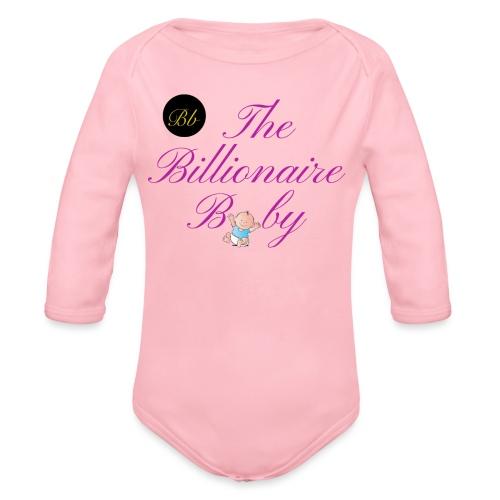 billionaire baby classic - Organic Longsleeve Baby Bodysuit