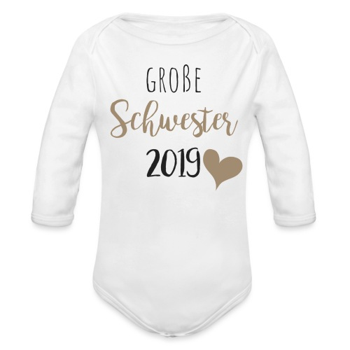 Große Schwester 2019 - Baby Bio-Langarm-Body