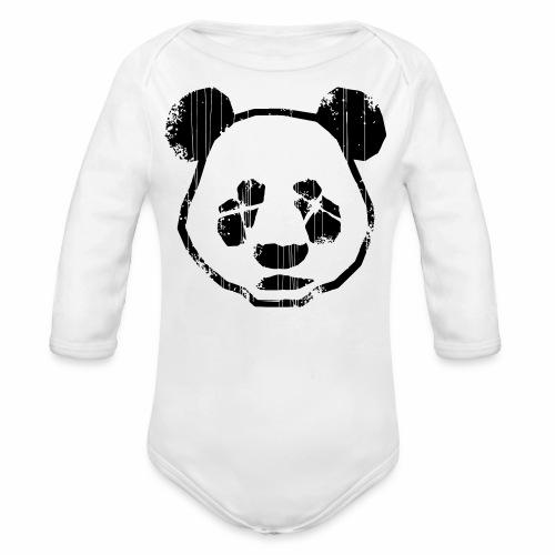 Panda - Baby bio-rompertje met lange mouwen