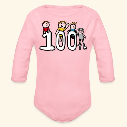 100th Video - Organic Longsleeve Baby Bodysuit