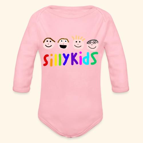 Sillykids Logo - Organic Longsleeve Baby Bodysuit