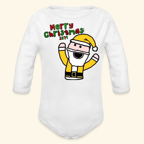 Santa Kid (Christmas 2019) - Organic Longsleeve Baby Bodysuit