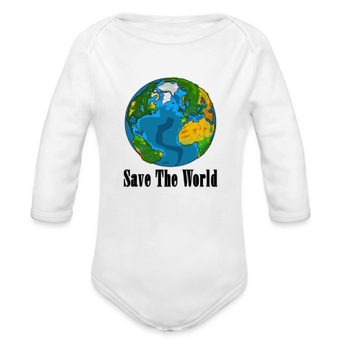 Save The World-Planet - Ekologisk långärmad babybody