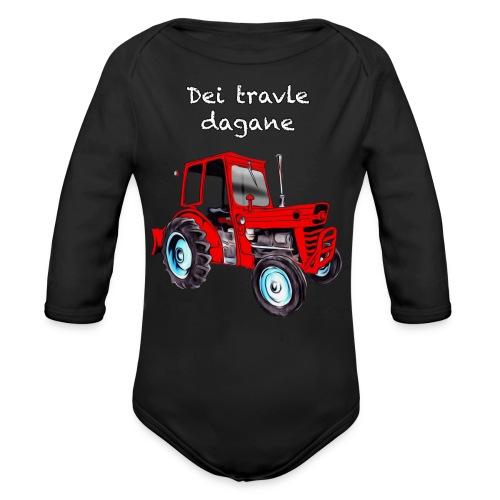 Traktor - Økologisk langermet baby-body