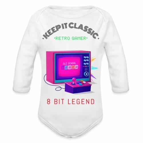 keep it classic 8bit gamer retro gaming old school - Baby Bio-Langarm-Body